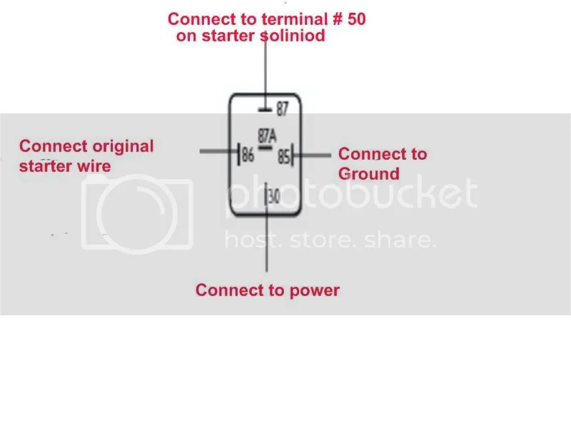 Wiring for a 4 or 5 pin starter relay - Shoptalkforums