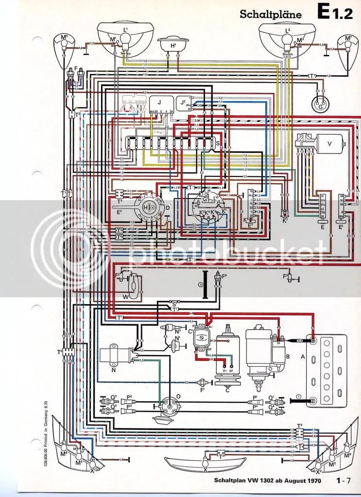1302 Vw Bug Wiring Diagram - Wiring Diagrams Clicks