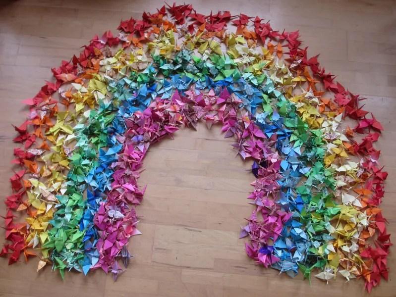 1000papercranesrainbowjpg Photo By Mariellec Photobucket