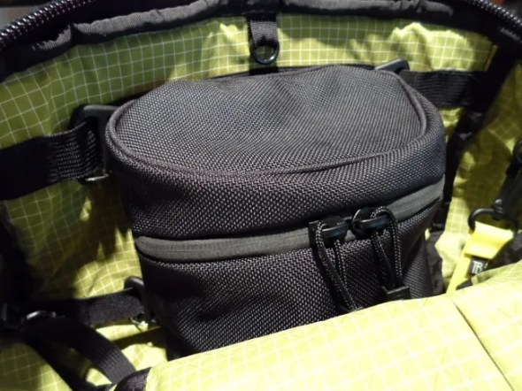 Tom Bihn Smart Alec with the Lower Modular Pocket attached inside the main compartment