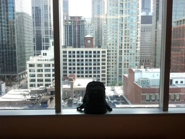 The Synapse 25 taking in the Chicago Skyline