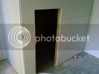 vertical crack in drywall above door