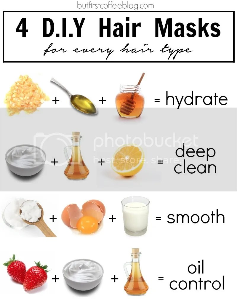Diy Hair Masks Every Type But First Coffee