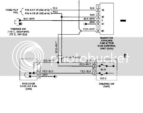VWVortex - radiator fan wiring question (AC to no AC