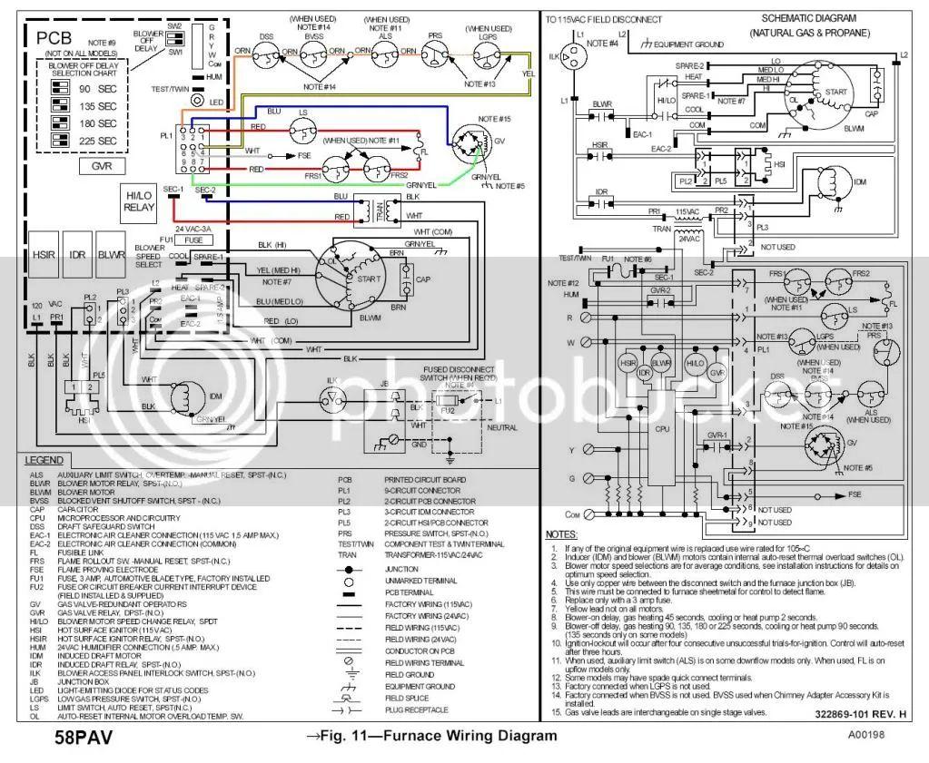 payne ac blower wiring