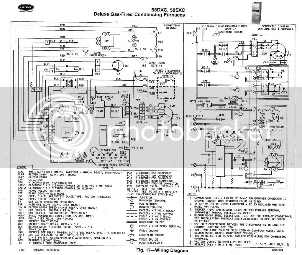 carrier schematic wiring diagram