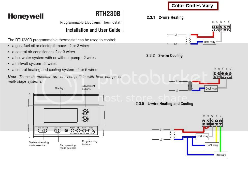 honeywell rth230b wiring diagram