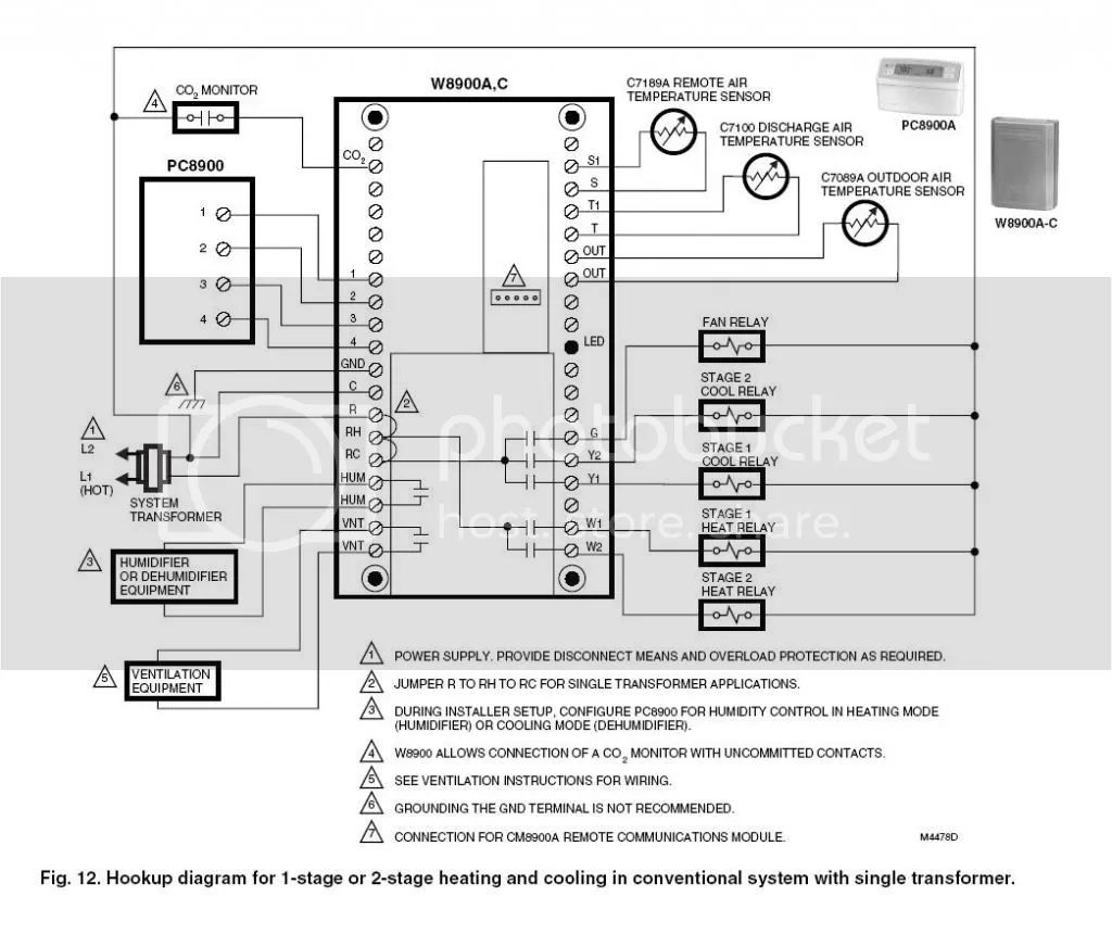 honeywell rth7600 wiring diagram conventional