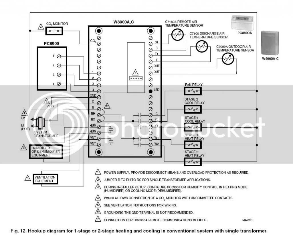 honeywell thermostat wiring diagram view diagram