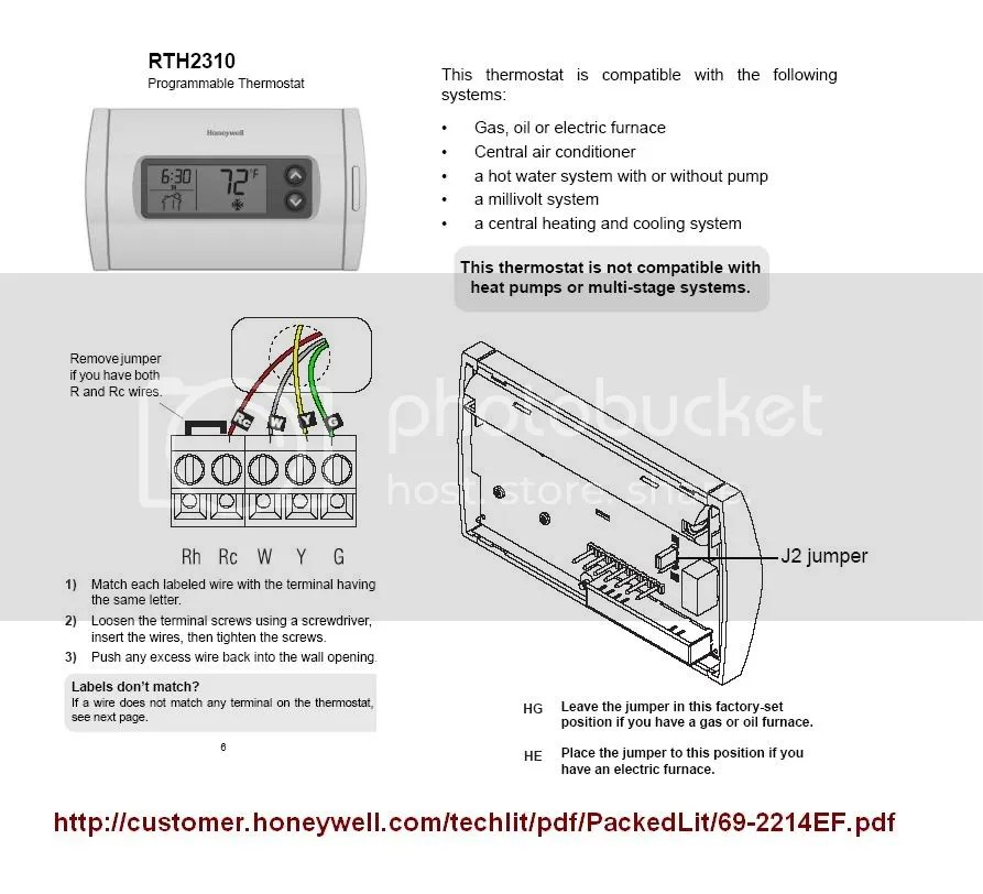 Honeywell Thermostat Wiring Diagram Th3210d1004 new model wiring