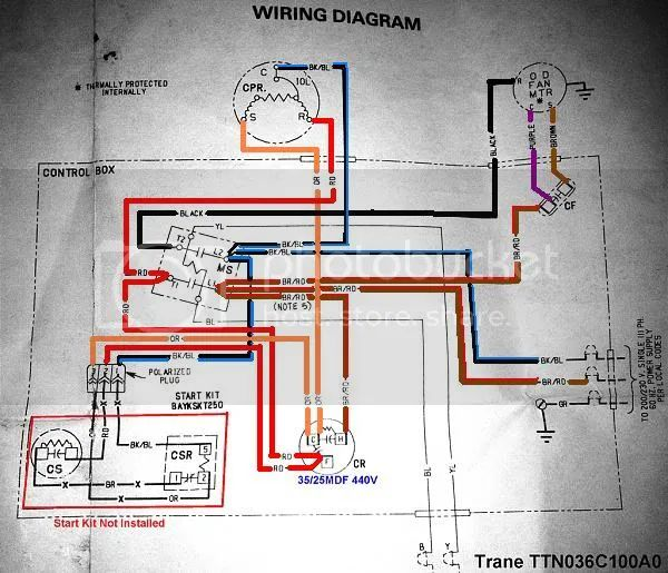 trane condensing unit wiring diagram