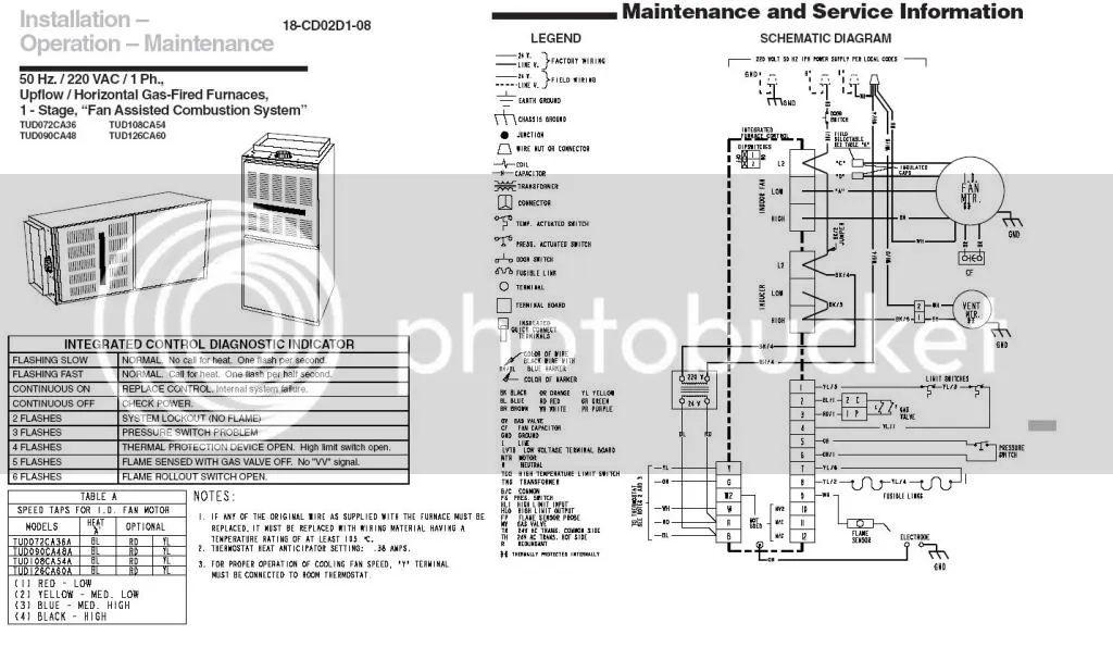 trane xr80 furnace schema cablage