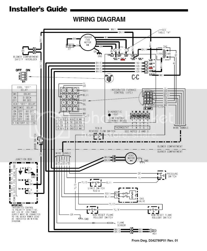 trane xb80 furnace wiring diagram