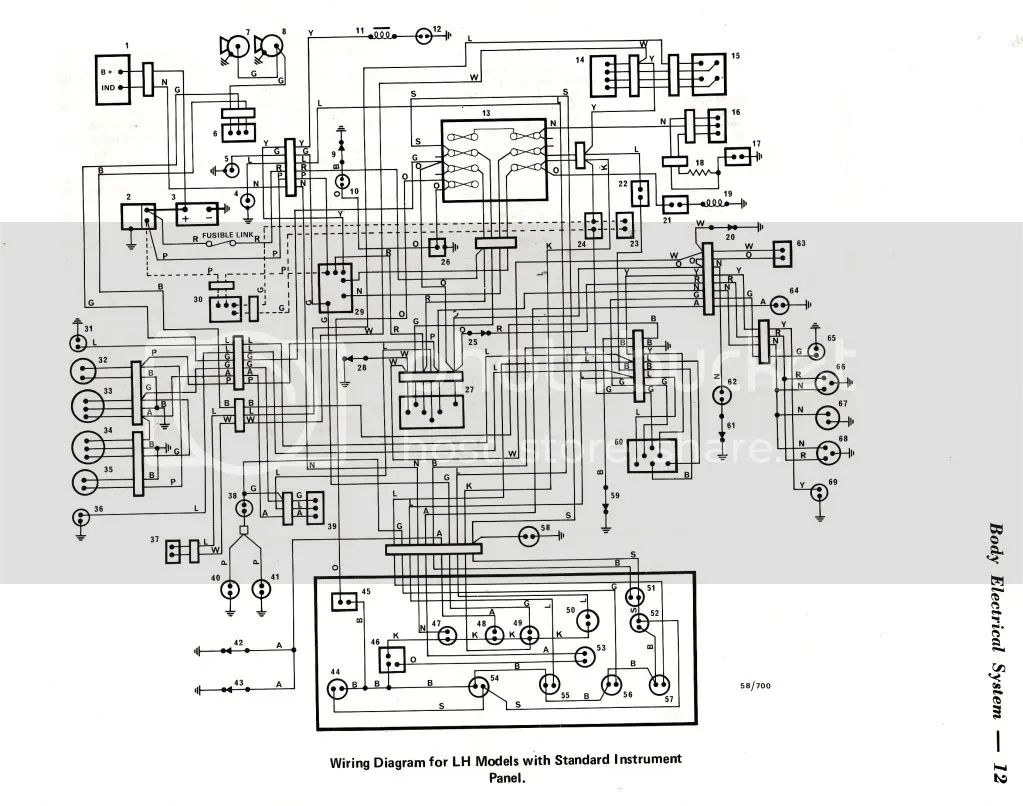lx torana headlight wiring diagram