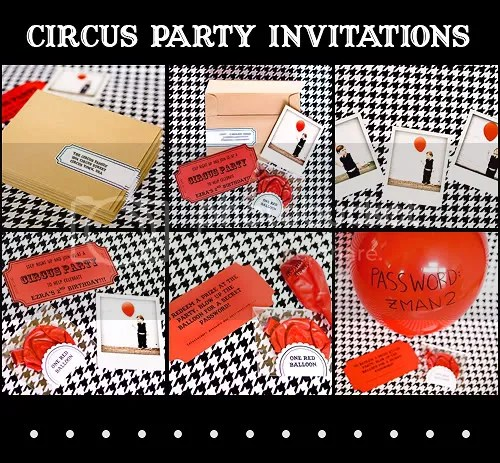 Circus Party Invitation Circus Ticket Birthday Invitation Free - Circus Party Invitation