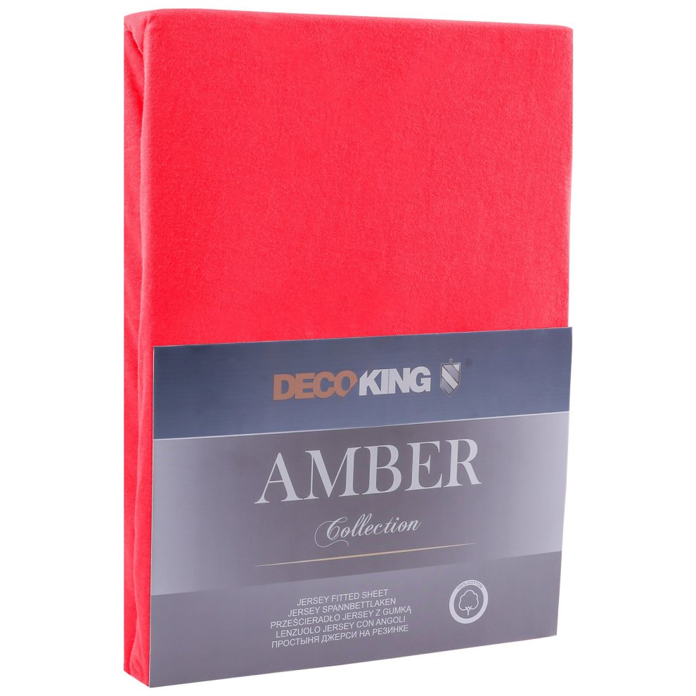 Spannbettlaken 90x200 Decoking Fitted Sheet Uk Single Cotton Jersey Boxspring Amber Collection 80x200 90x200 Cm Red