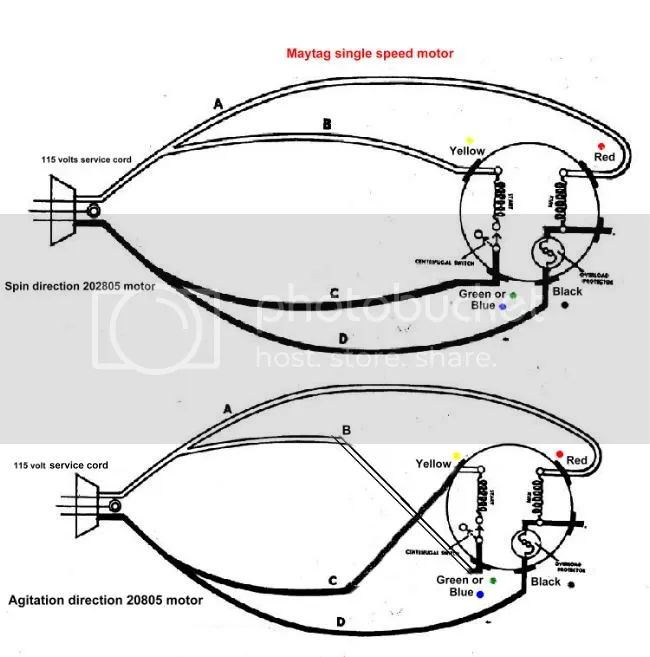 old washing machine motor wiring diagram