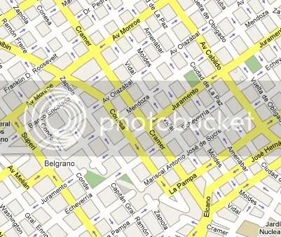 Mapa do Bairro Belgrano em Buenos Aires