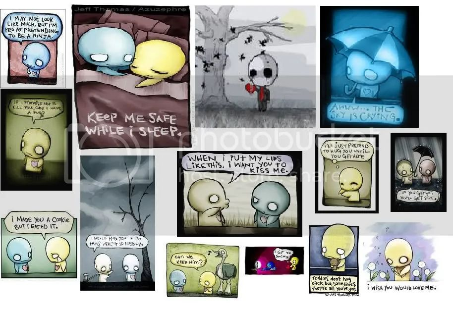 Emo cartoons graphics and comments