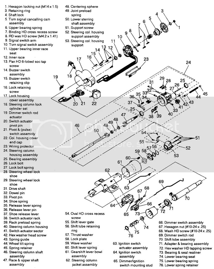 chevy truck steering column diagram