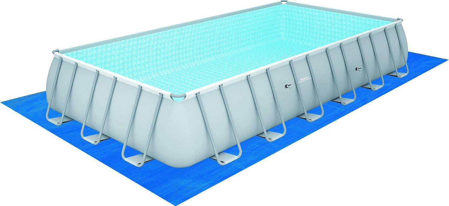 Pool Mit Filterpumpe Bestway Frame Pool Power Steel 732 X 132 X 366 Cm Mit Filterpumpe 56474