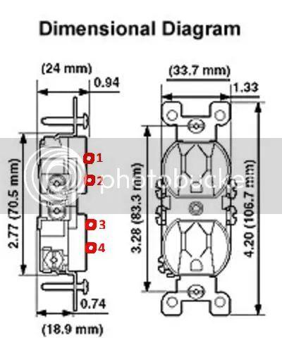 wiring an outlet brass screw