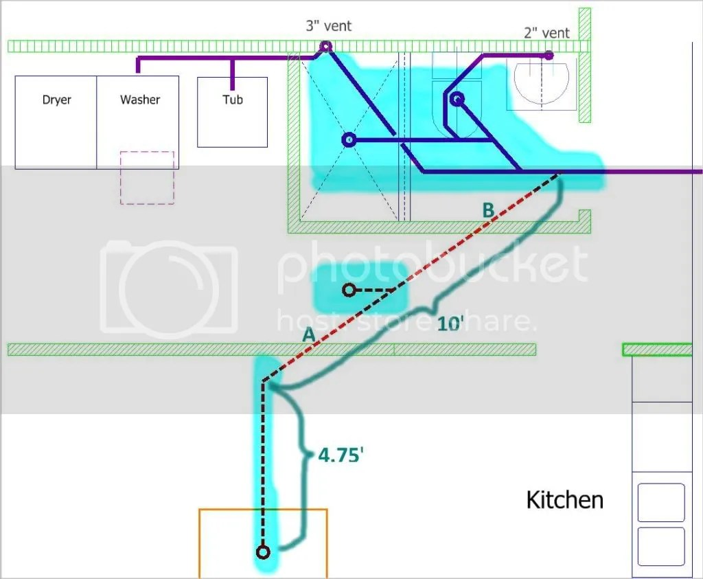 read kitchen island vent Now I want to add a floor drain in the middle of the utility room hallway and a bar sink in the kitchen island further south See the diagram below