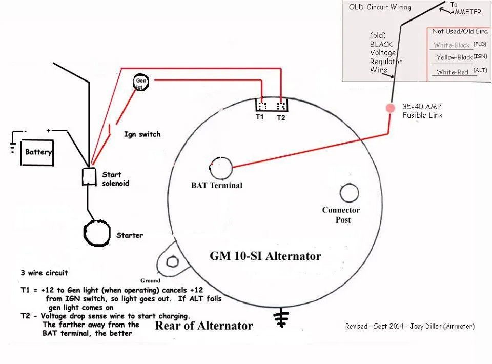 chevy 3 wire alternator wiring diagram wiring diagram work  chevy 3 wire alternator diagram #9
