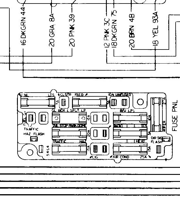 67 Chevy Fuse Box - Wiring Diagram Detailed