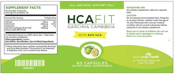HCAFit ingredients