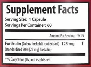 forskolin x-factor ingredients