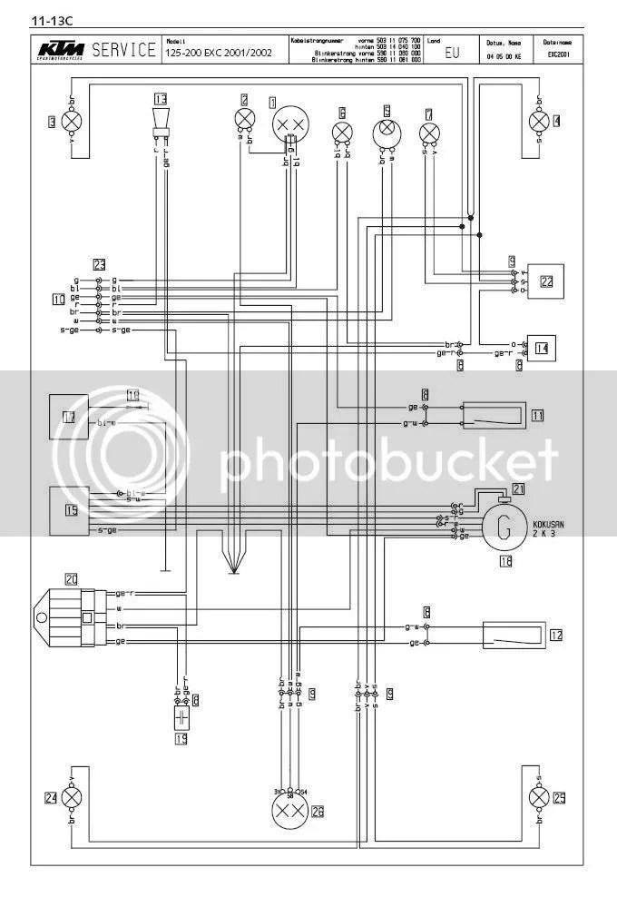 Ktm 200 Exc 2001 Wire Diagraham