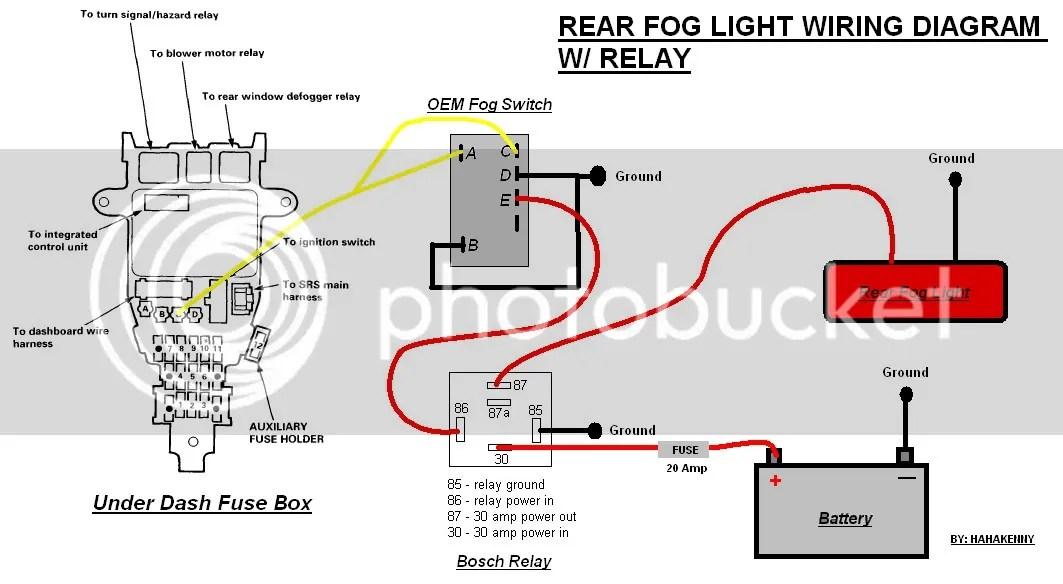 Rear Fog Light Wiring - CB7Tuner Forums