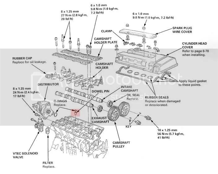 08 honda fit vtec Motor diagram