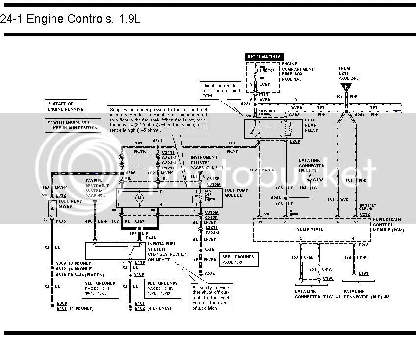 94 ford escort wiring diagram