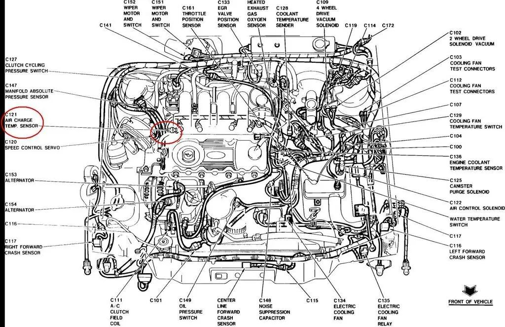 1999 ford taurus vacuum