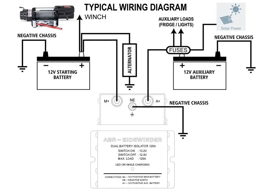 diy dual battery isolator wiring diagram