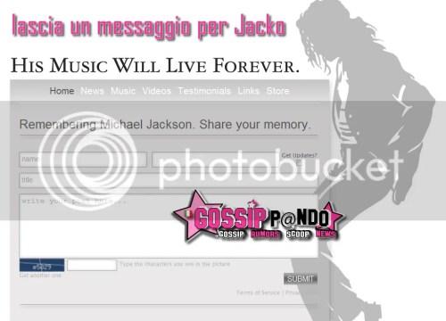 scrivi un messaggio per Jacko