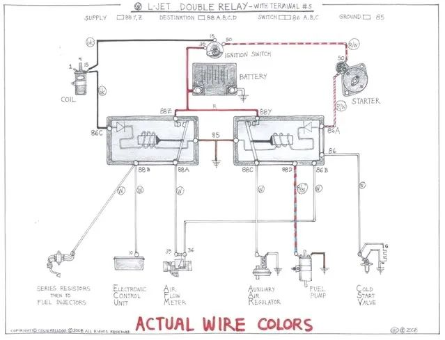 color coded wiring diagram for 73 vw beetle