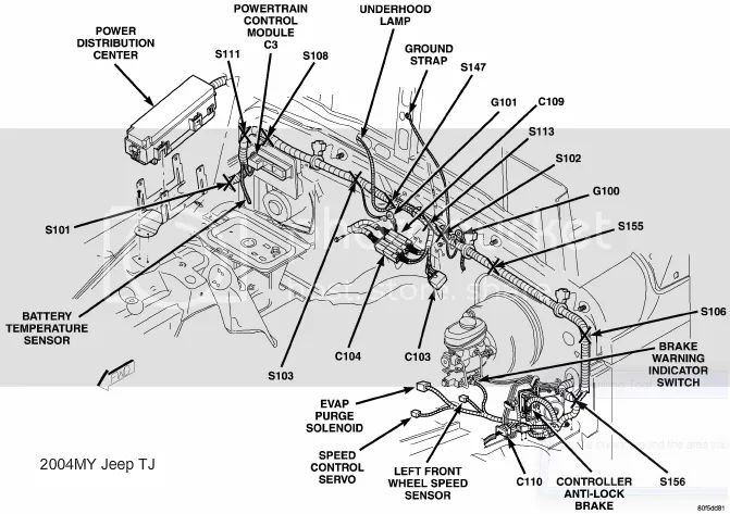 2004 jeep wrangler fog light wiring diagram