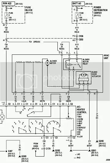 2002 jeep grand cherokee wiring schematic for heat and air
