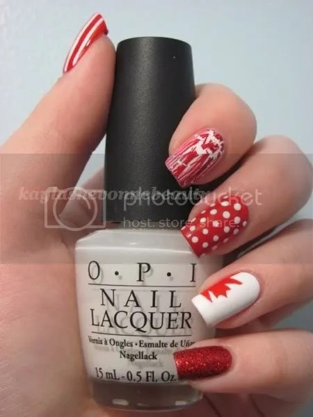canadadaywm Share The Love   Nail Art