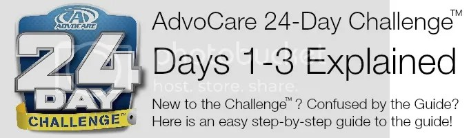 AdvoCare 24 Day Challenge Days 1-3 Explained #AdvoCare - Between The - 24 day challenge guide