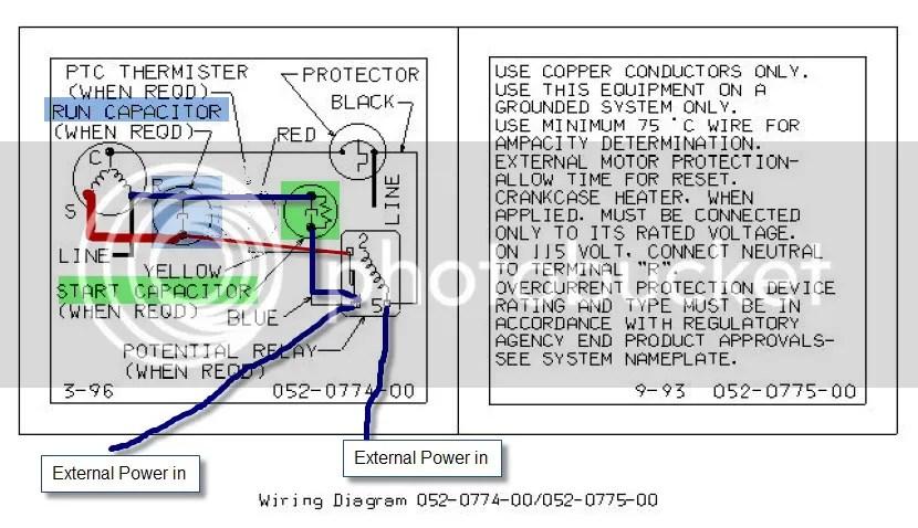 copeland compressor capacitor size chart