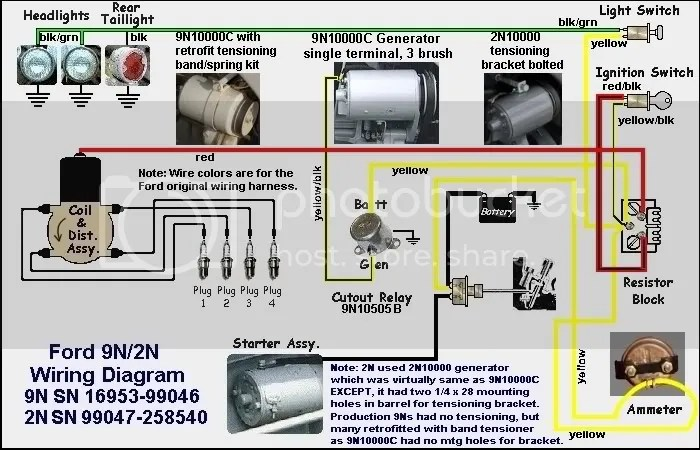 Ford 9n light wiring diagram - Ford 9N, 2N, 8N Forum - Yesterday\u0027s