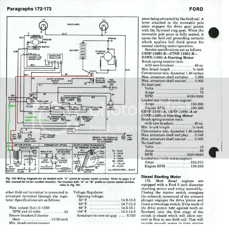1972 ford tractor wiring diagram