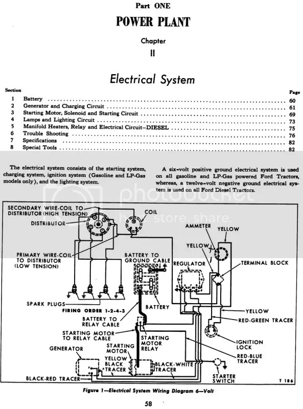 6 Volt Positive Ground Electrical System Wiring Diagram ... Negative Ground Generator Wiring Diagram on