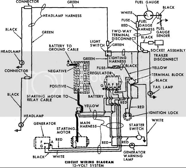 4000 ford tractor engine wiring diagram