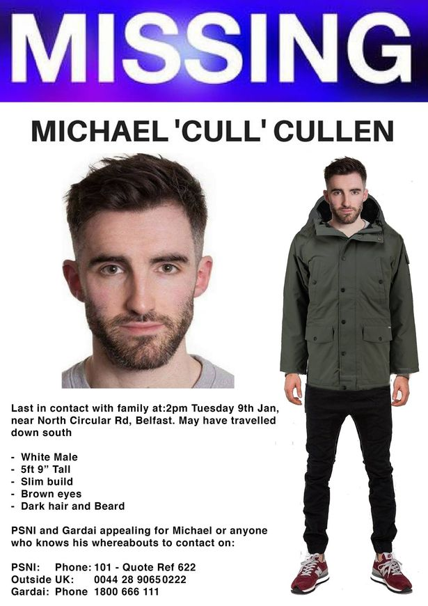 Family of missing North Belfast man Michael Cullen make emotional - make a missing person poster
