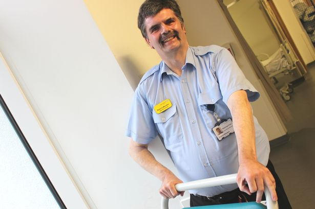 Southmead hospital porter Robert Weeden celebrates 40 years in the